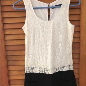 Eric & Lani Dresses - Eric &Lani black and white lace romper